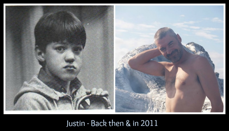 Justin then and now