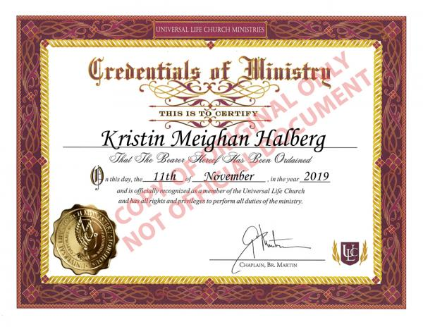 Kristin Halberg credentials